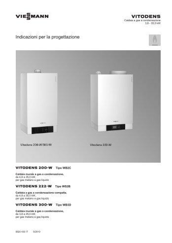 vitodens 200/222/300-w - Certificazione energetica edifici