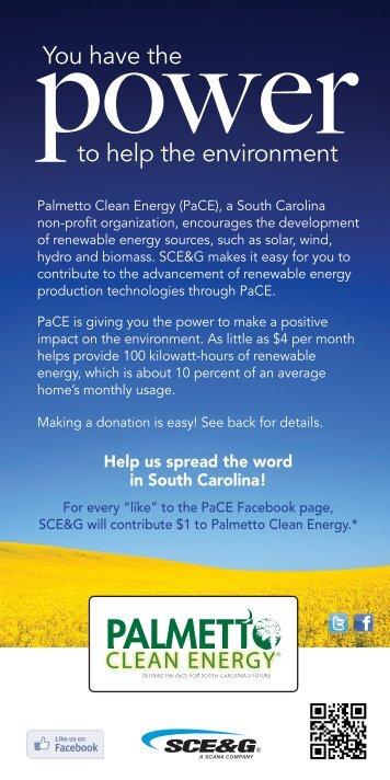 Palmetto Clean Energy - SCE&G