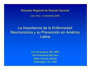 Enfermedad Neumocócica Invasiva - Sabin Vaccine Institute