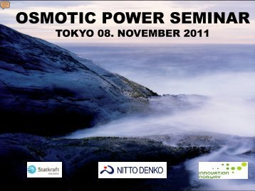 veolia -introduction to osmotic power pilot project - Statkraft