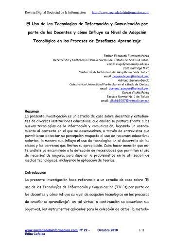 El Uso de las Tecnologías de Información y Comunicación por parte ...