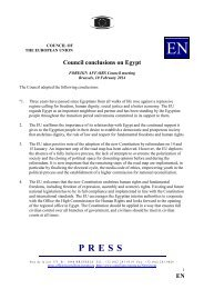 EN Council conclusions on Egypt - Europa