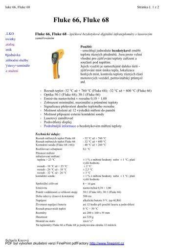 Fluke 66, Fluke 68 - KALA elektro