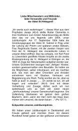weiterlesen Chronik PDF download - Abtei St. Hildegard
