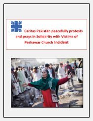 Caritas Pakistan peacefully protests and prays in Solidarity with ...