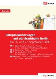 Informationsblatt der DB