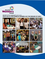 2011-2012 Report to the Community - Maine Women's Fund