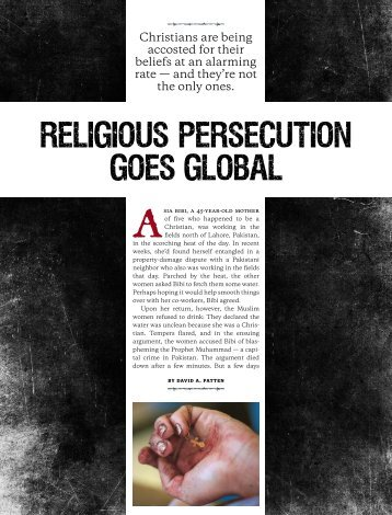 Christians are being accosted for their beliefs at an alarming rate ...