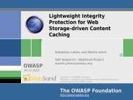 Lightweight Integrity Protection for Web Storage-driven ... - owasp