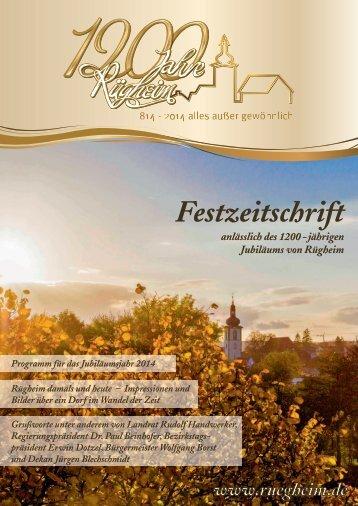 1200 Jahre Rügheim Festzeitschrift