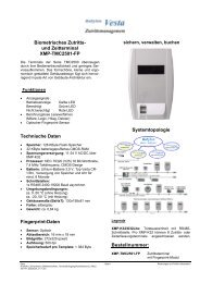 Biometrisches Zutritts- und Zeitterminal XMP-TMC2501-FP ...