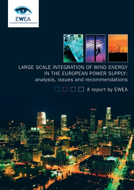 large scale integration of wind energy in the european power