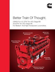 Better Train Of Thought. - Cummins Engines