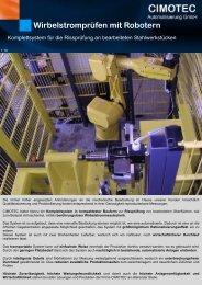 Wirbelstromprüfen mit Robotern - CIMOTEC Automatisierung Gmbh