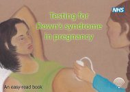 Testing for Down's syndrome in pregnancy - NHS Fetal Anomaly ...