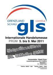 Internationale Handelsmesse PRÜM 5. bis 9. Mai 2011 - Stadt Prüm