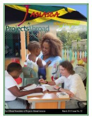 1,73MB Jamaica Newsletter - March 2013 - Projects Abroad