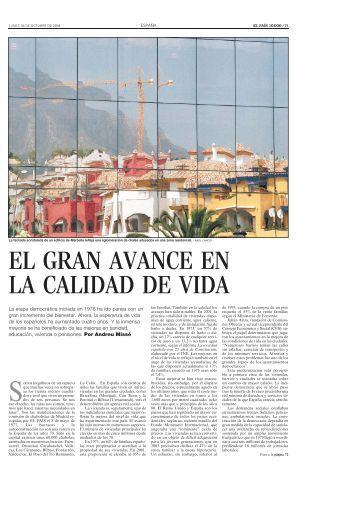 EL GRAN AVANCE EN LA CALIDAD DE VIDA - El País