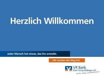 Präsentation zur Veranstaltung für Vereine - VR Bank Main-Kinzig ...
