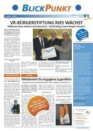 Blickpunkt 1 /2014 (PDF, 830 KB) - Raiffeisen-Volksbank Ries eG