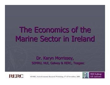 The Economics of the Marine Sector in Ireland - National University ...