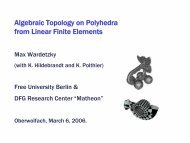 Algebraic Topology from Finite Elements