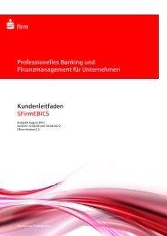 Kundenleitfaden SFirm-Ebics - Kreissparkasse Esslingen-Nürtingen