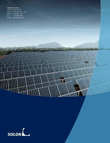 Solar Energy Brochure Pdf download