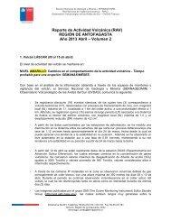 Reporte de Actividad Volcánica (RAV) - Sernageomin