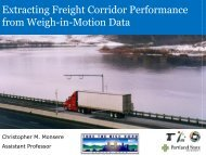 Estimating Freight Corridor Performance From WIM Data
