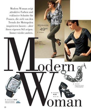 Modern Woman zeigt attraktive Farben und exklusive Schnitte für ...