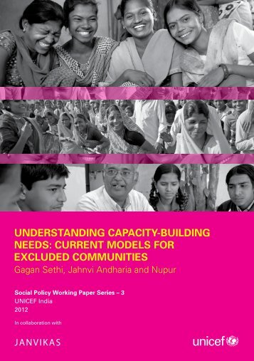understanding capacity-building needs: current models for ... - Unicef