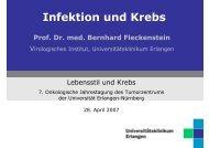 Vortrag - Tumorzentrum Erlangen-Nürnberg - Universitätsklinikum ...