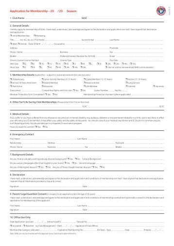Authorisation to Confirm a Valid Blue Card Form - Northcliffe Surf ...