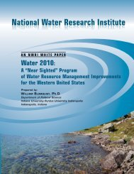 Water 2010 paper for NWRI - National Water Research Institute