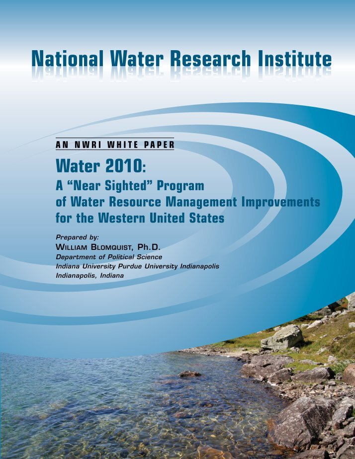 research paper on water resource management Integrated water resource management integrity sanitation governance sustainability transboundary water management the water governance facility (wgf) is a collaboration between the undp and siwi we work on knowledge and capacity development related to multiple.