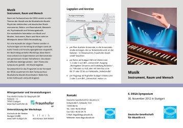 Faltblatt (PDF, 370 kB) - Deutsche Gesellschaft für Akustik eV