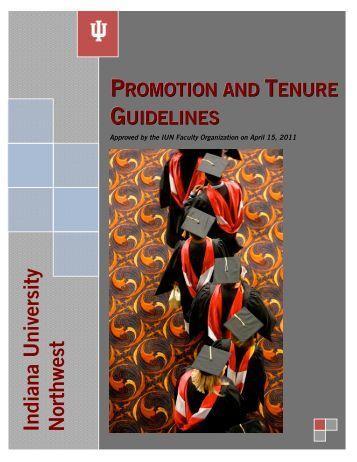 Promotion and Tenure Guidelines - Indiana University Northwest