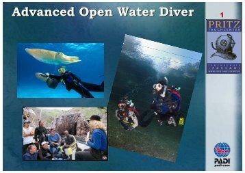 Advanced Open Water Diver - Pritz Tauchsport