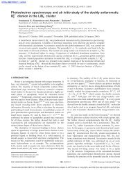 Photoelectron spectroscopy and ab initio study of ... - ResearchGate