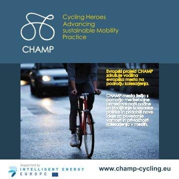 Slovenska Web - CHAMP CYCLING Project