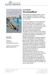 Wortstoffhof - Verlag Antje Kunstmann