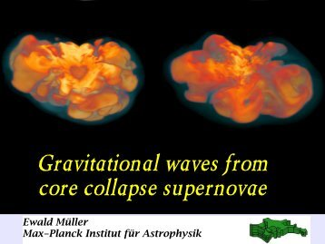 Gravitational waves from core collapse supernovae - LUTh
