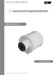 Der konzentrische Abgasschalldämpfer - Kutzner+Weber