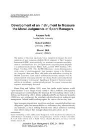 Development of an Instrument to Measure the ... - Human Kinetics