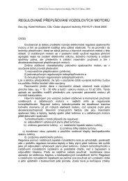 regulované přeplňování vozidlových motorů - Katedra vozidel a ...