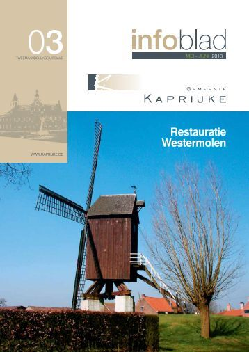 infoblad mei - juni 2013 - Kaprijke