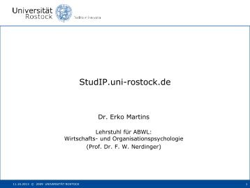 StudIP Einführung - Universität Rostock