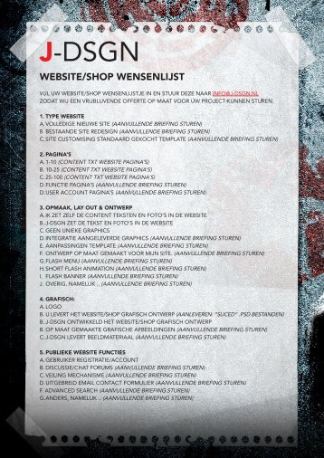 website wensenlijst - J-dsgn.nl