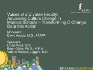 Voices of a Diverse Faculty: Advancing Culture Change in ... - AAMC